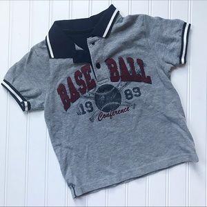 •Children's Place• baseball pique polo shirt